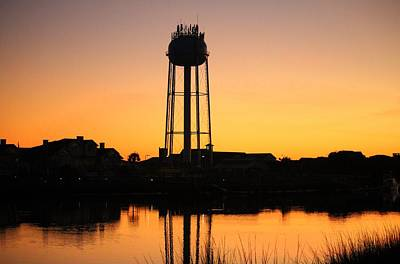 Photograph - Water Tower At Sunset by Cynthia Guinn