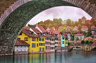 Arched Window Wall Art - Photograph - Water Under The Bridge In Bern Switzerland by Carol Japp