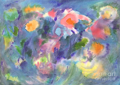 Painting - Watercolor Abstraction, Vivid Flowers. Abstract Painting. by Irina Dobrotsvet