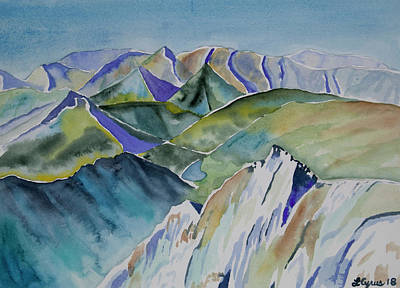 Painting - Watercolor- Alpine View From Atop Snowmass by Cascade Colors