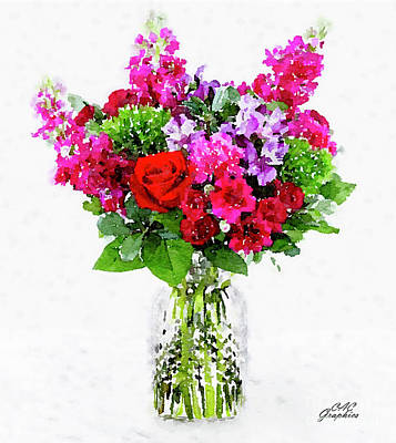 Painting - Watercolor Bouquet by CAC Graphics
