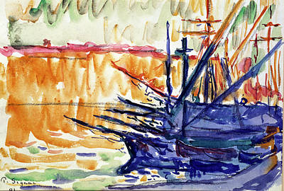 Painting - Watercolor By Paul Signac by Superstock