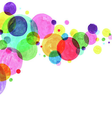 Digital Art - Watercolor Circles Abstract by Crisserbug