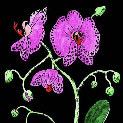 Painting - Watercolor Flower Moth Orchid  by Irina Sztukowski