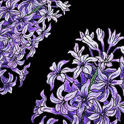 Painting - Watercolor Flowers Hyacinth  by Irina Sztukowski