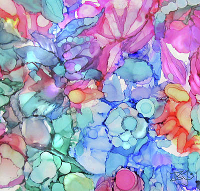 Painting - Watercolor Flowers by Jean Batzell Fitzgerald