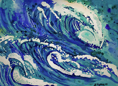 Painting - Watercolor - Ocean Wave Design by Cascade Colors