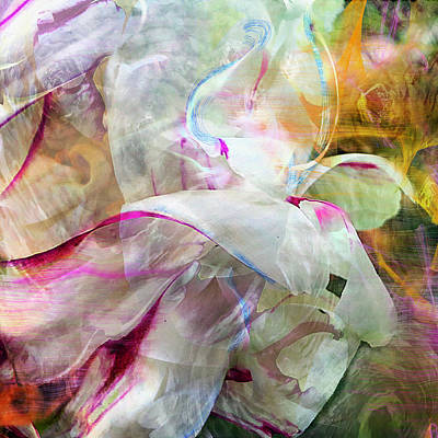 Peony Digital Art - Watercolor Peony by Cindy Greenstein