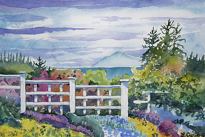 Painting - Watercolor - Port Angeles Spring by Cascade Colors