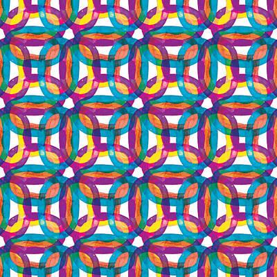 Painting - Watercolor Rainbow Pattern Design Collection 2019 By Mahsawatercolor .n3 by Mahsa Watercolor Artist
