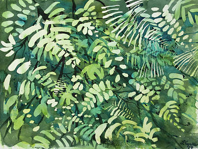 Painting - Watercolor - Rainforest Canopy Design by Cascade Colors