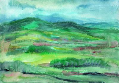 Painting - Watercolor Summer Landscape by Irina Dobrotsvet