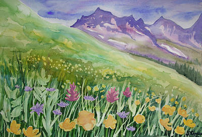Painting - Watercolor - Yankee Boy Basin Wildflower Landscape by Lynn Cyrus