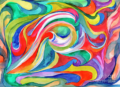 Painting - Watercolor's Swirl by Dobrotsvet Art