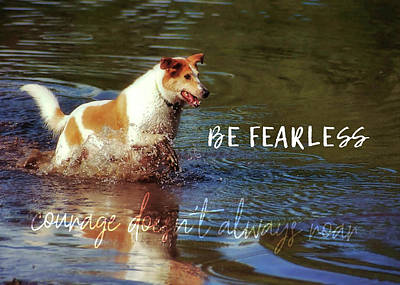 Photograph - Waterdog Quote by JAMART Photography