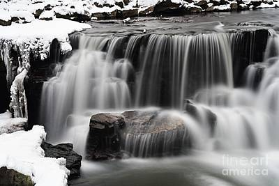 Photograph - Waterfall And Snow by Larry Ricker