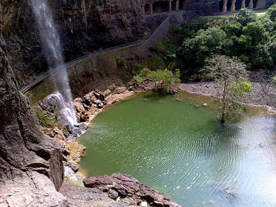 India Photograph - Waterfall At Ellora Caves by Ravi Gogte, Pune, India