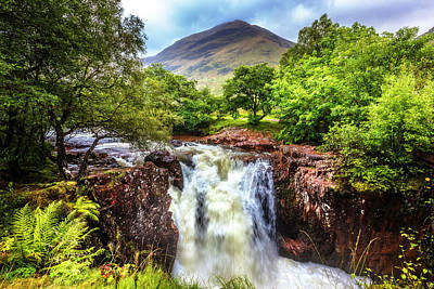 Photograph - Waterfall Beneath The Ben Nevis Mountain by Debra and Dave Vanderlaan