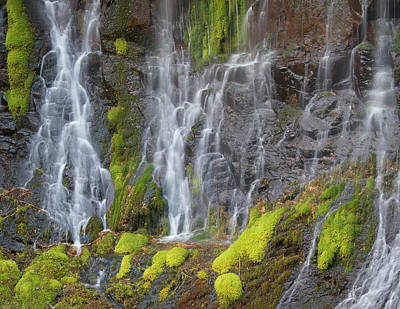 Photograph - Waterfall Detail by Jean Noren