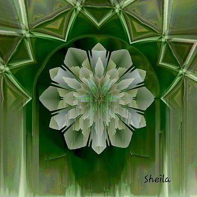 Digital Art - Waterfall Flower Art by Sheila Mcdonald