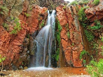 Photograph - Waterfall In Grand Canyon by Walt Sterneman