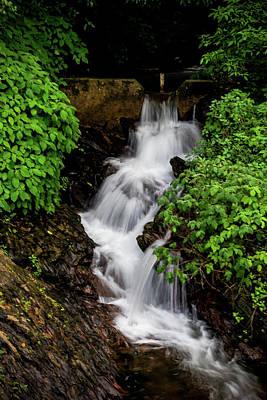 Photograph - Waterfall In The Mountains by Suyog Gaidhani