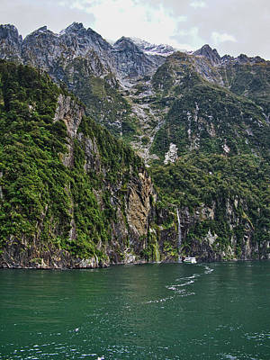 Photograph - Waterfall - Milford Sound - New Zealand by Steven Ralser
