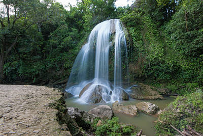 Photograph - Waterfall Near Soroa, Cuba by Mark Duehmig