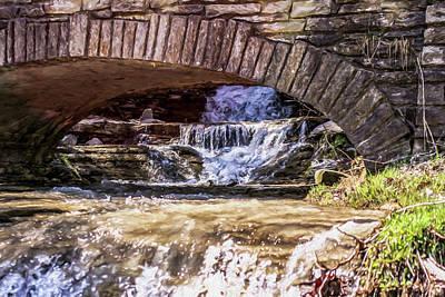 Aira Force Wall Art - Photograph - Waterfalls Through Stone Bridge by Chic Gallery Prints From Karen Szatkowski