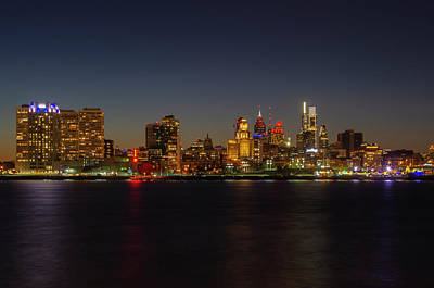 Photograph - Waterfront - Philadelphia Nightscape by Bill Cannon