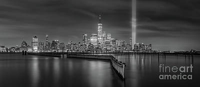 Photograph - Waterfront Walkway Tribute In Light Bw by Michael Ver Sprill