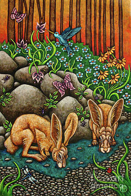 Painting - Watering Hole by Amy E Fraser