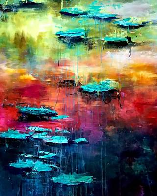 Painting - Waterlillies Series  by Julia S Powell