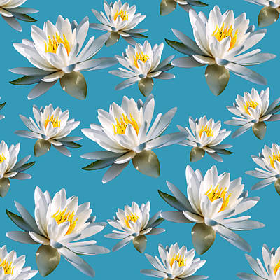 Lilies Mixed Media - Waterlily Pattern by Christina Rollo