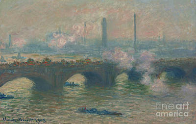 Painting - Waterloo Bridge, Gray Day, 1903  by Claude Monet