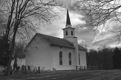 Photograph - Waterloo United Methodist Church - Back by Christopher Lotito