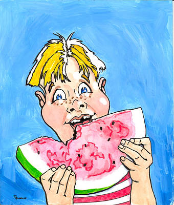 Painting - Watermelon Man by Richard De Wolfe