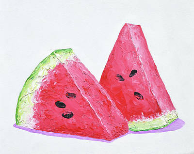Painting - Watermelon Slices by Jan Matson