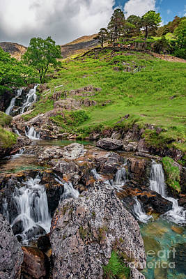 Photograph - Watkin Waterfall Snowdonia by Adrian Evans