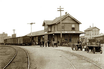 Photograph - Southern Pacific  Watsonville R/r Depot  by California Views Archives Mr Pat Hathaway Archives
