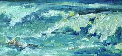 Wall Art - Painting - Wave Action by Kathryn McMahon