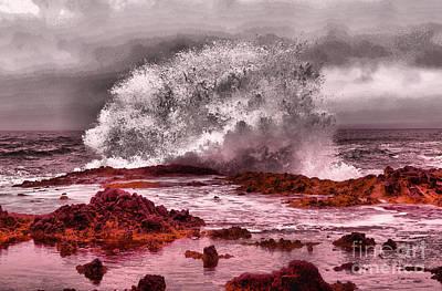 Target Threshold Nature -  Wave Asailing Rocks by Jeff Swan
