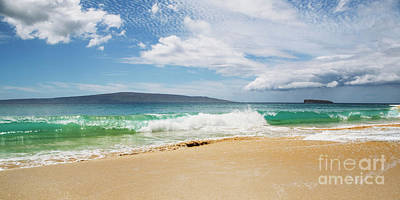 Photograph - Wave At Big Beach - Makena Maui by Charmian Vistaunet