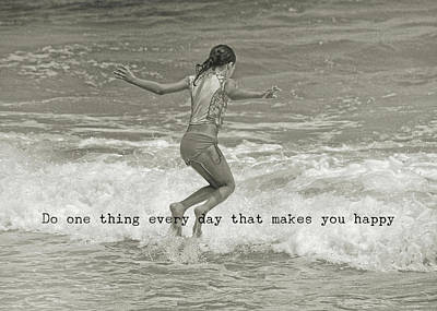 Wave Jump Quote Art Print by JAMART Photography
