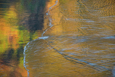 Photograph - Wave Reflections 5 by Leland D Howard
