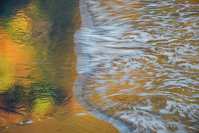 Photograph - Wave Reflections 6 by Leland D Howard