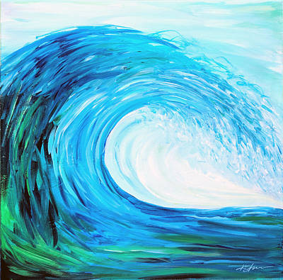 Painting - Wave1 by Kathy Sturr