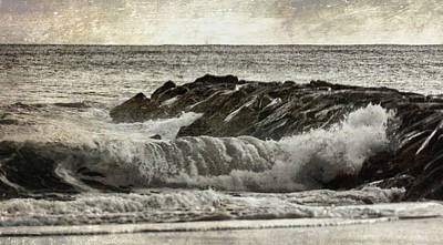 Photograph - Waves At The Jetty by Cathy Kovarik