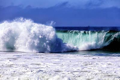 Photograph - Waves At Zuma Beach Malibu by John Rizzuto