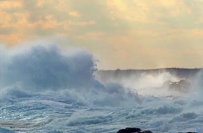 Photograph - Waves Breaking On Coastline, Peggys by Barrett & Mackay